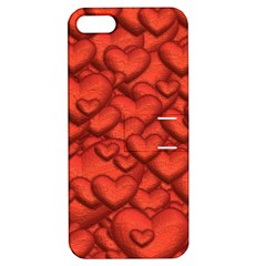 Shimmering Hearts Deep Red Apple Iphone 5 Hardshell Case With Stand by MoreColorsinLife