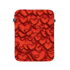 Shimmering Hearts Deep Red Apple Ipad 2/3/4 Protective Soft Cases by MoreColorsinLife