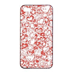 Vivid Hearts, Red Apple Iphone 4/4s Seamless Case (black) by MoreColorsinLife