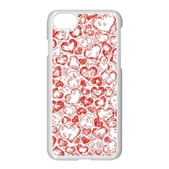 Vivid Hearts, Red Apple Iphone 7 Seamless Case (white) by MoreColorsinLife
