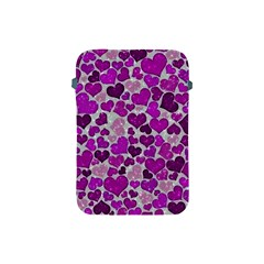 Sparkling Hearts Purple Apple Ipad Mini Protective Soft Cases by MoreColorsinLife