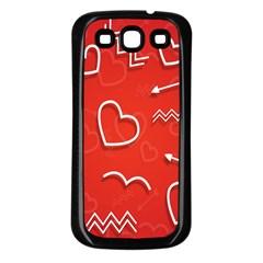 Background Valentine S Day Love Samsung Galaxy S3 Back Case (black) by Nexatart