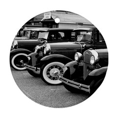 Vehicle Car Transportation Vintage Round Ornament (two Sides) by Nexatart