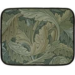Vintage Background Green Leaves Double Sided Fleece Blanket (mini)  by Nexatart
