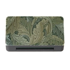 Vintage Background Green Leaves Memory Card Reader With Cf by Nexatart