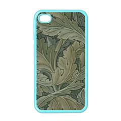 Vintage Background Green Leaves Apple Iphone 4 Case (color) by Nexatart