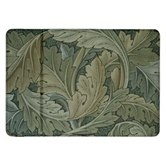 Vintage Background Green Leaves Samsung Galaxy Tab 8 9  P7300 Flip Case by Nexatart
