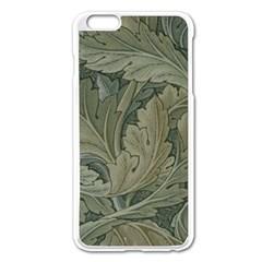 Vintage Background Green Leaves Apple Iphone 6 Plus/6s Plus Enamel White Case by Nexatart