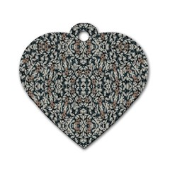 Ornate Pattern Mosaic Dog Tag Heart (one Side) by dflcprints