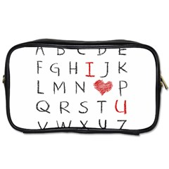 Love Alphabet Toiletries Bags 2 Side by Valentinaart