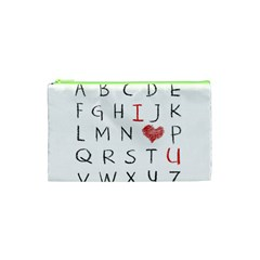 Love Alphabet Cosmetic Bag (xs) by Valentinaart