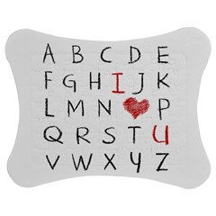 Love Alphabet Jigsaw Puzzle Photo Stand (bow) by Valentinaart
