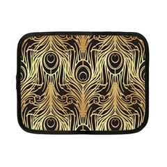 Gold, Black,peacock Pattern,art Nouveau,vintage,belle Epoque,chic,elegant,peacock Feather,beautiful Netbook Case (small)  by 8fugoso