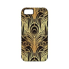 Gold, Black,peacock Pattern,art Nouveau,vintage,belle Epoque,chic,elegant,peacock Feather,beautiful Apple Iphone 5 Classic Hardshell Case (pc+silicone) by 8fugoso