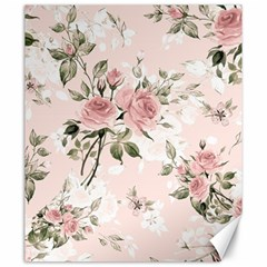 Pink Shabby Chic Floral Canvas 20  X 24   by 8fugoso