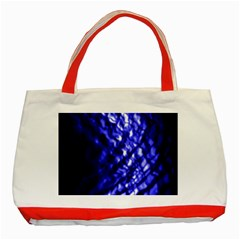 Blue Ripple Classic Tote Bag (red) by vwdigitalpainting