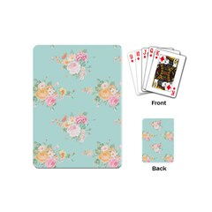 Mint,shabby Chic,floral,pink,vintage,girly,cute Playing Cards (mini)  by 8fugoso