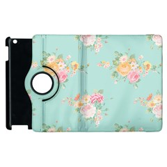 Mint,shabby Chic,floral,pink,vintage,girly,cute Apple Ipad 2 Flip 360 Case by 8fugoso