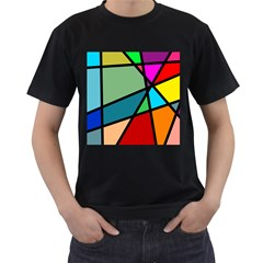 Modern Abstract Men s T Shirt (black) (two Sided) by vwdigitalpainting