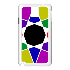 Compass Abstract Samsung Galaxy Note 3 N9005 Case (white) by vwdigitalpainting