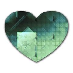 Mc Escher Inspired Fractal Pattern Heart Mousepads by douxsurmoi