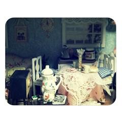 Abandonded Dollhouse Double Sided Flano Blanket (large)  by snowwhitegirl