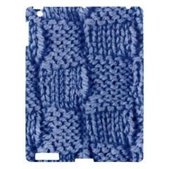 Knitted Wool Square Blue Apple Ipad 3/4 Hardshell Case by snowwhitegirl