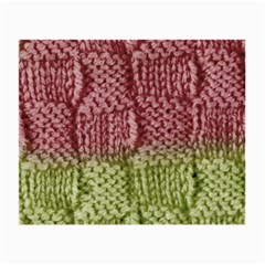 Knitted Wool Square Pink Green Small Glasses Cloth by snowwhitegirl