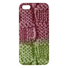 Knitted Wool Square Pink Green Iphone 5s/ Se Premium Hardshell Case by snowwhitegirl