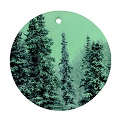 Winter Trees Round Ornament (two Sides) by vintage2030