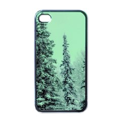 Winter Trees Apple Iphone 4 Case (black) by vintage2030
