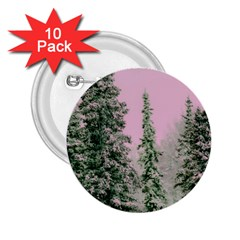 Winter Trees Pink 2 25  Buttons (10 Pack)  by vintage2030
