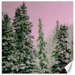 Winter Trees Pink Canvas 16  X 16   by vintage2030