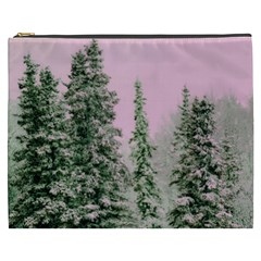 Winter Trees Pink Cosmetic Bag (xxxl)  by vintage2030