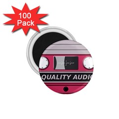Pink Cassette 1 75  Magnets (100 Pack)  by vintage2030