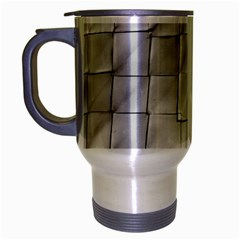 Silver Grid Pattern Travel Mug (silver Gray) by dflcprints