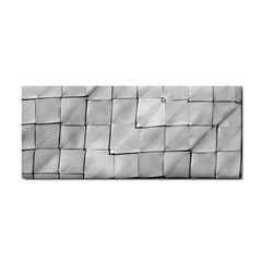 Silver Grid Pattern Cosmetic Storage Cases by dflcprints