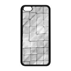 Silver Grid Pattern Apple Iphone 5c Seamless Case (black) by dflcprints