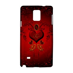 Wonderful Hearts, Kisses Samsung Galaxy Note 4 Hardshell Case by FantasyWorld7