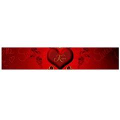 Wonderful Hearts, Kisses Flano Scarf (large)  by FantasyWorld7