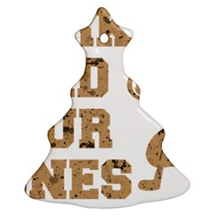 Work Hard Your Bones Christmas Tree Ornament (two Sides) by Melcu