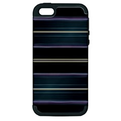 Modern Abtract Linear Design Apple Iphone 5 Hardshell Case (pc+silicone) by dflcprints