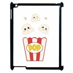 Cute Kawaii Popcorn Apple Ipad 2 Case (black) by Valentinaart