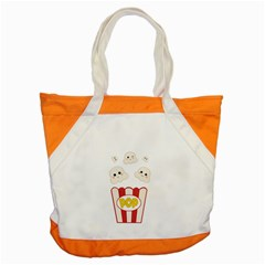 Cute Kawaii Popcorn Accent Tote Bag by Valentinaart