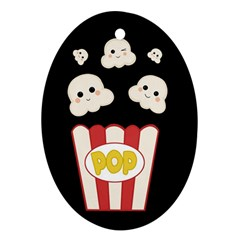 Cute Kawaii Popcorn Ornament (oval) by Valentinaart