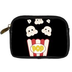 Cute Kawaii Popcorn Digital Camera Cases by Valentinaart