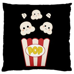 Cute Kawaii Popcorn Large Cushion Case (one Side) by Valentinaart
