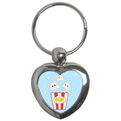Cute Kawaii Popcorn Key Chains (heart)  by Valentinaart