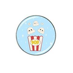 Cute Kawaii Popcorn Hat Clip Ball Marker by Valentinaart