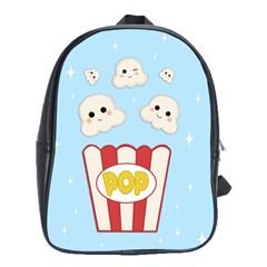 Cute Kawaii Popcorn School Bag (large) by Valentinaart